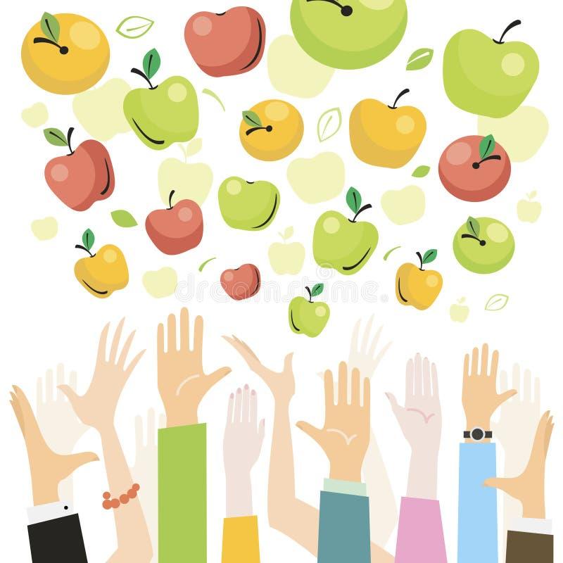 Πτώση μήλων από τον ουρανό ελεύθερη απεικόνιση δικαιώματος