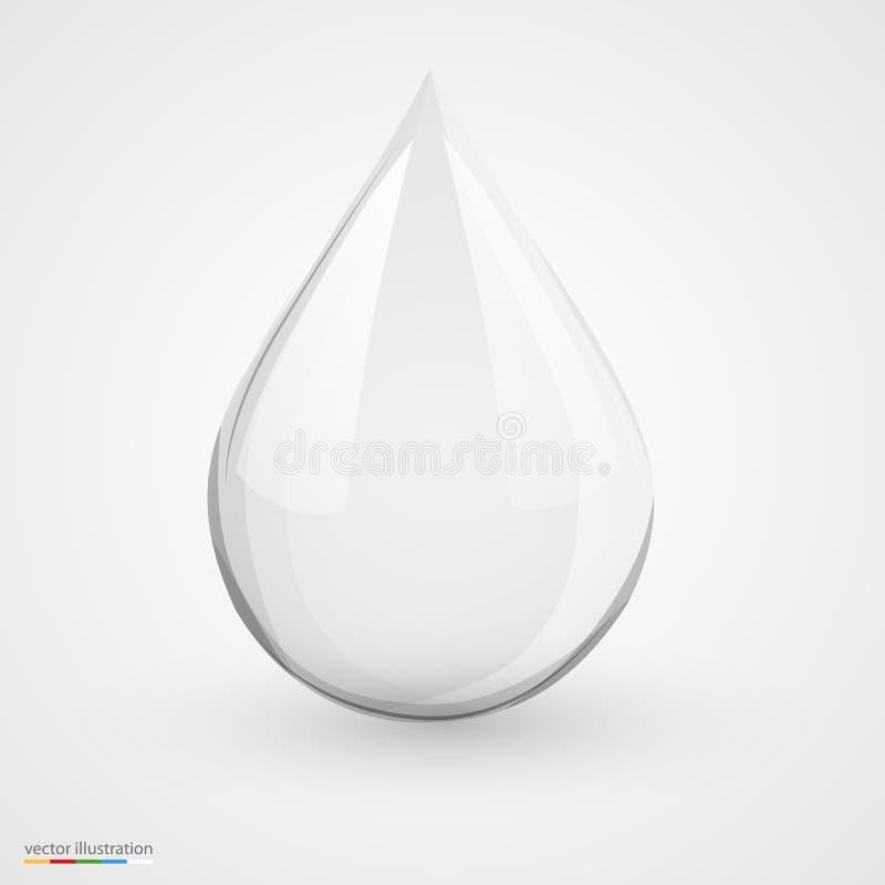 Πτώση νερού στο λευκό που απομονώνεται ελεύθερη απεικόνιση δικαιώματος