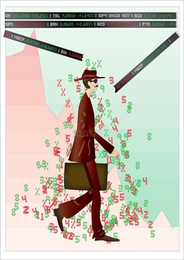 πτώση οικονομική διανυσματική απεικόνιση
