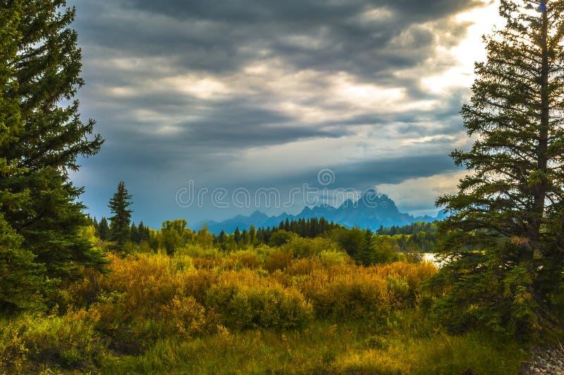 Πτώση στο εθνικό πάρκο Tetons επιχορήγησης στοκ φωτογραφία με δικαίωμα ελεύθερης χρήσης