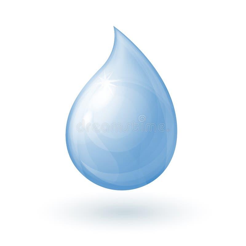 Πτώση του νερού διανυσματική απεικόνιση