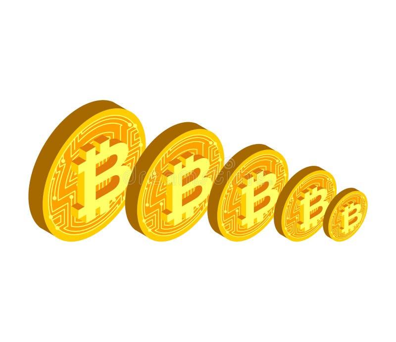 Πτώση του bitcoin E cris διανυσματική απεικόνιση