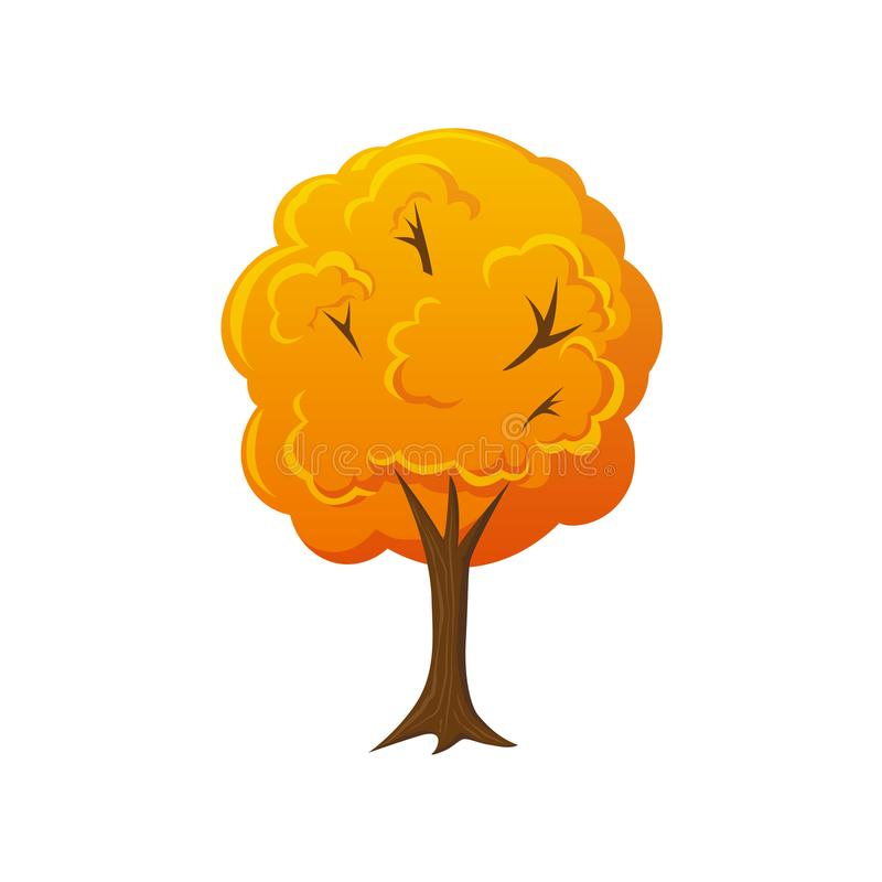 Πτώση ύφους κινούμενων σχεδίων, δέντρο φθινοπώρου ελεύθερη απεικόνιση δικαιώματος