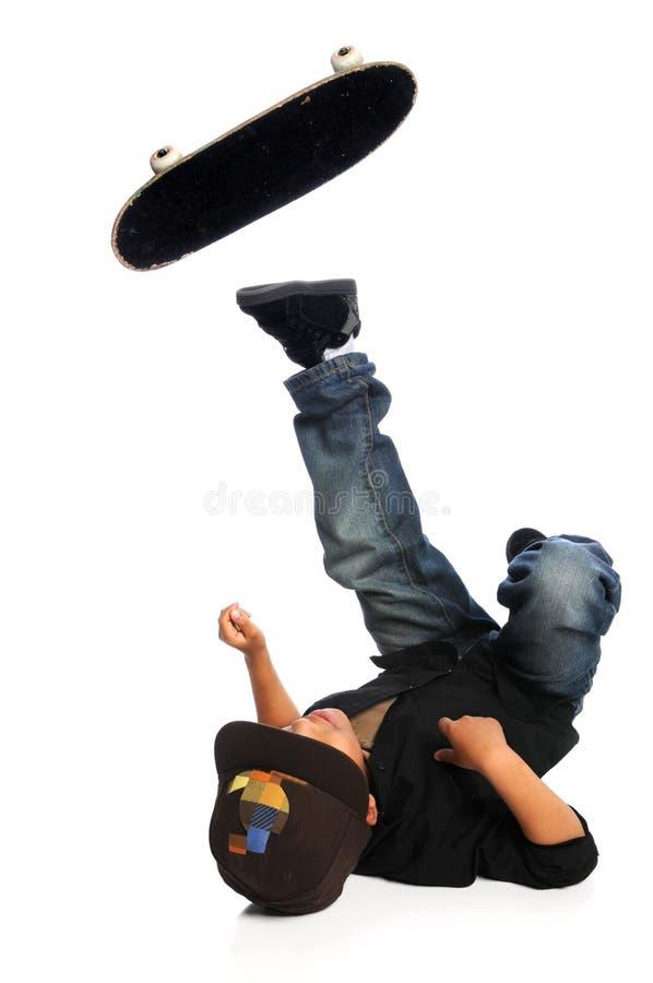 πτώση skateboarder στοκ φωτογραφίες με δικαίωμα ελεύθερης χρήσης