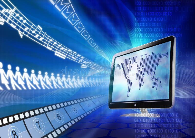 πυίδα διανομή Διαδικτύο&upsilo ελεύθερη απεικόνιση δικαιώματος
