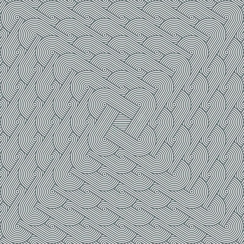 Πυκνή άνευ ραφής περίκομψη σύσταση Γεωμετρικό σχέδιο με τις συγκατευθυντικές σειρές των ομόκεντρων κύκλων ελεύθερη απεικόνιση δικαιώματος