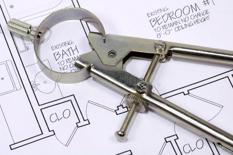 πυξίδα αρχιτεκτονικής Στοκ φωτογραφίες με δικαίωμα ελεύθερης χρήσης