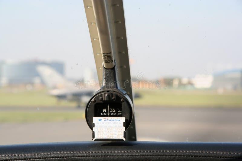 Πυξίδα αεροπορίας αεροπλάνων στοκ εικόνα