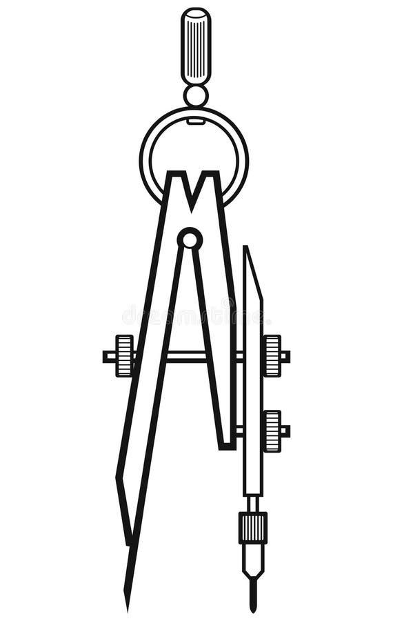 Πυξίδα συμβόλων ελεύθερη απεικόνιση δικαιώματος