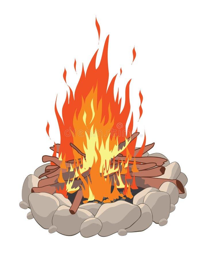 Πυρά προσκόπων απεικόνιση αποθεμάτων