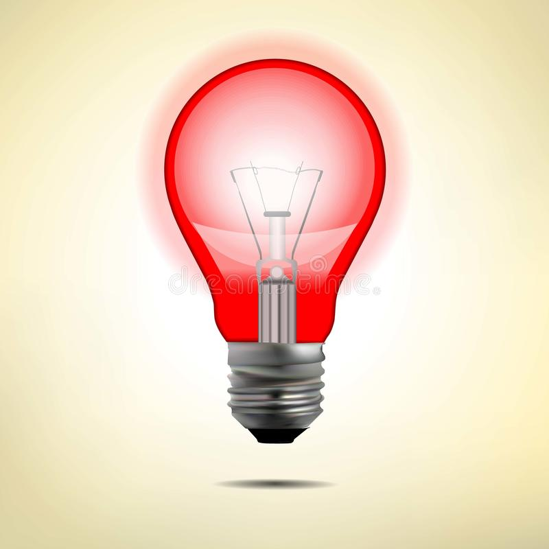 Πυρακτωμένος ηλεκτρικός λαμπτήρας με το διανυσματικό σχήμα διανυσματική απεικόνιση