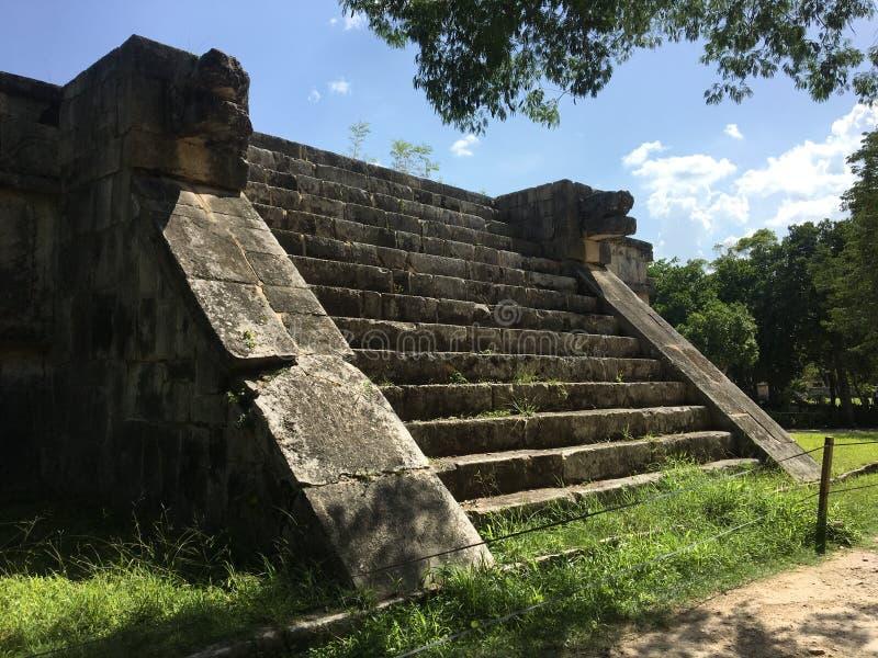 Πυραμίδα ιστορικό Μεξικό itza Chichen στοκ εικόνες