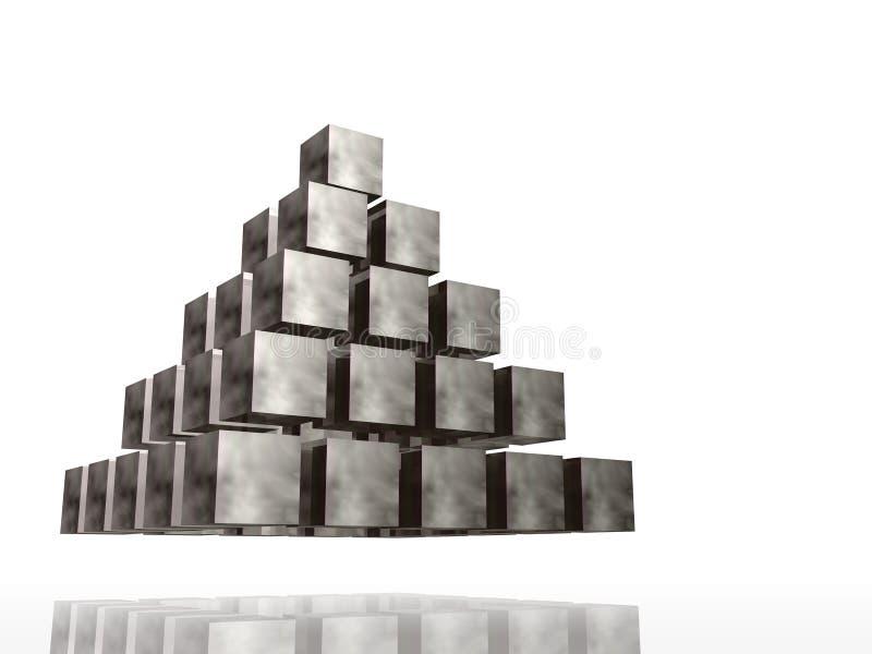 πυραμίδα χρωμίου ελεύθερη απεικόνιση δικαιώματος