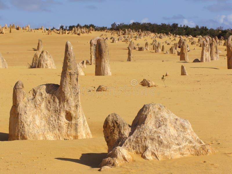 πυραμίδες ερήμων στοκ φωτογραφία