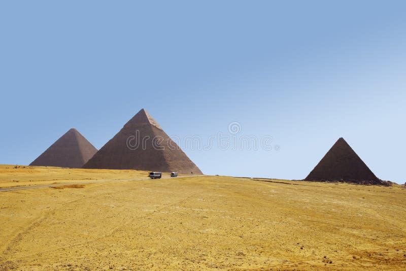 πυραμίδες τρία στοκ εικόνα με δικαίωμα ελεύθερης χρήσης