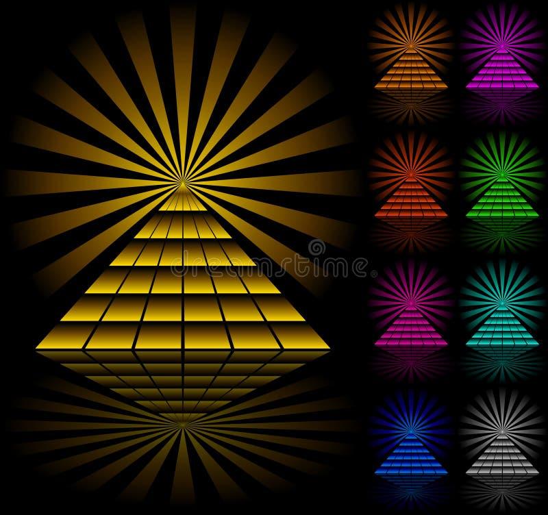 πυραμίδες διανυσματική απεικόνιση
