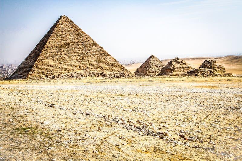 Πυραμίδες Giza, Αίγυπτος στοκ φωτογραφίες