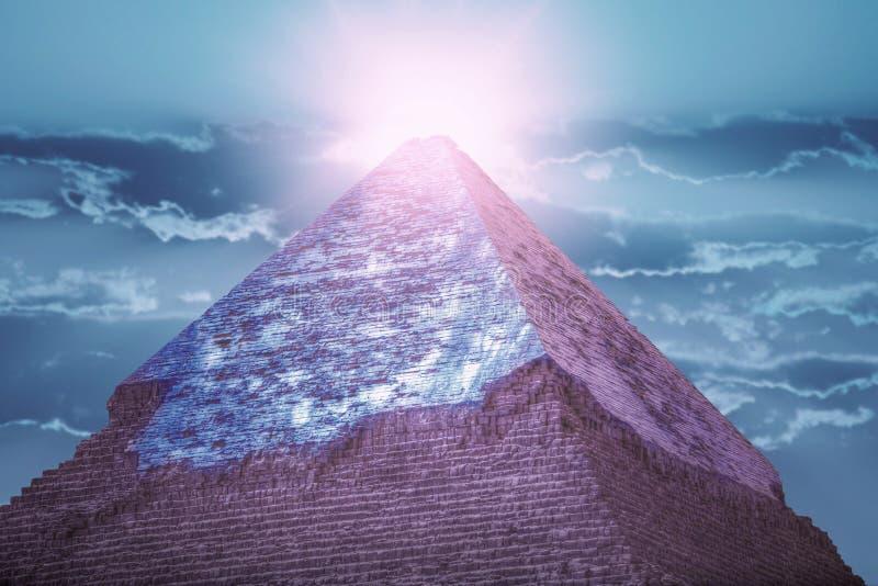 Πυραμίδες Giza, στην Αίγυπτο στοκ εικόνα
