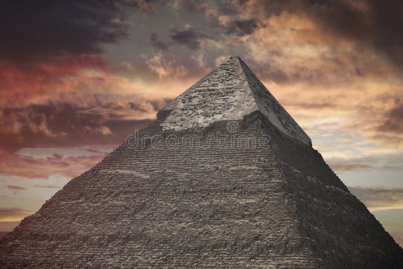 Πυραμίδες Giza, στην Αίγυπτο στοκ φωτογραφία