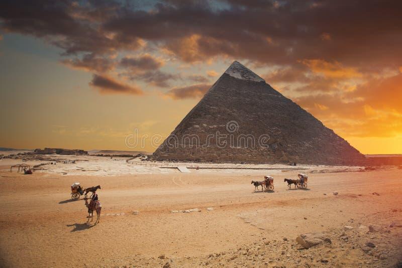 Πυραμίδες Giza, στην Αίγυπτο στοκ φωτογραφία με δικαίωμα ελεύθερης χρήσης