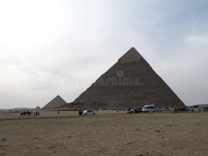 Πυραμίδες Giza στο Κάιρο, Αίγυπτος στοκ εικόνες με δικαίωμα ελεύθερης χρήσης
