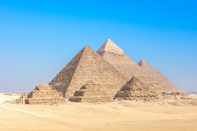 πυραμίδες giza της Αιγύπτου στοκ φωτογραφίες