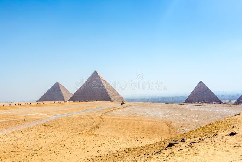 πυραμίδες giza της Αιγύπτου στοκ εικόνες