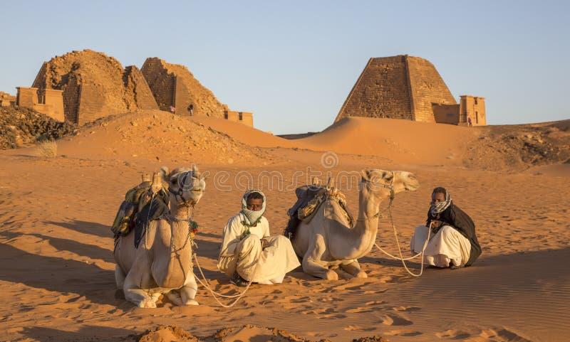 Πυραμίδες Meroe σε μια έρημο στο μακρινό Σουδάν στοκ εικόνες με δικαίωμα ελεύθερης χρήσης