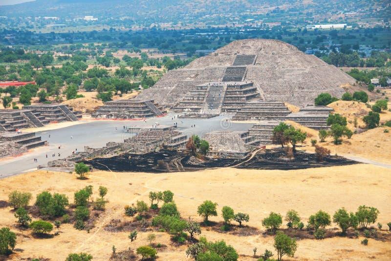 Πυραμίδα του φεγγαριού, πυραμίδες Teotihuacan, Μεξικό στοκ εικόνες