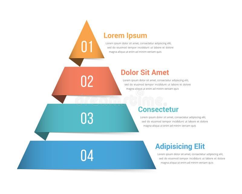 Πυραμίδα Infographics απεικόνιση αποθεμάτων