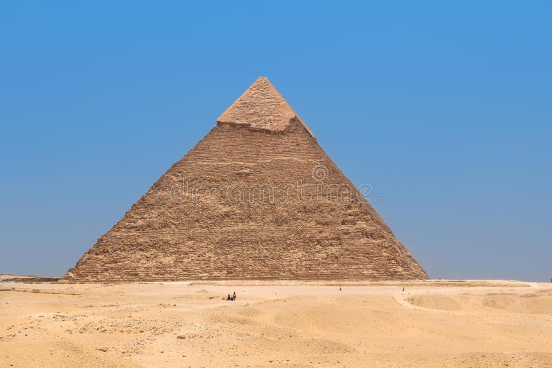 Πυραμίδα Khafre σε Giza, Αίγυπτος στοκ εικόνες