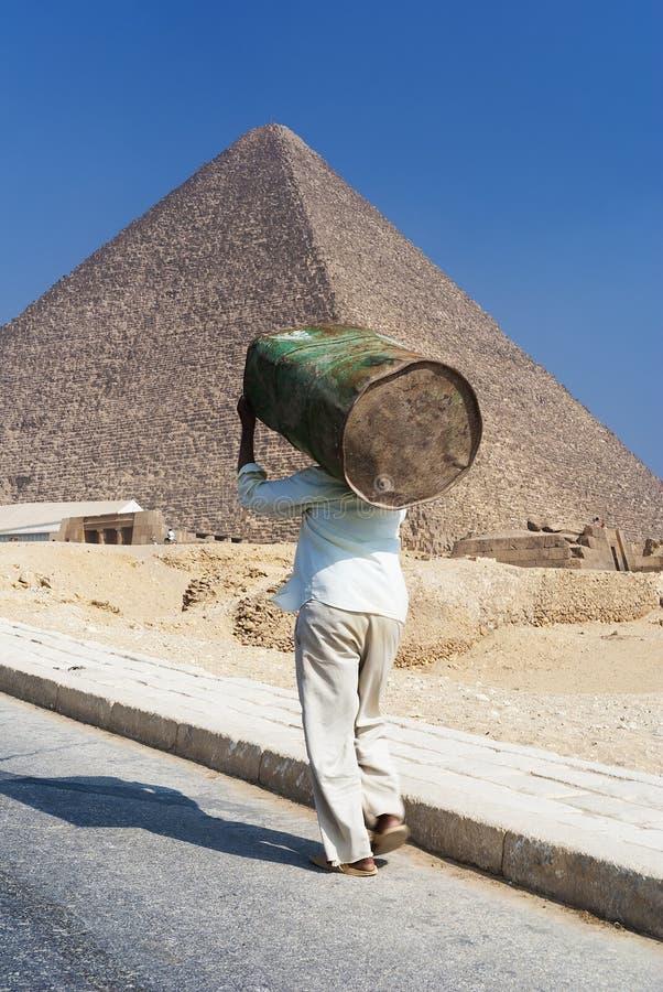 Πυραμίδα Menkaure σε Giza, Αίγυπτος στοκ εικόνες