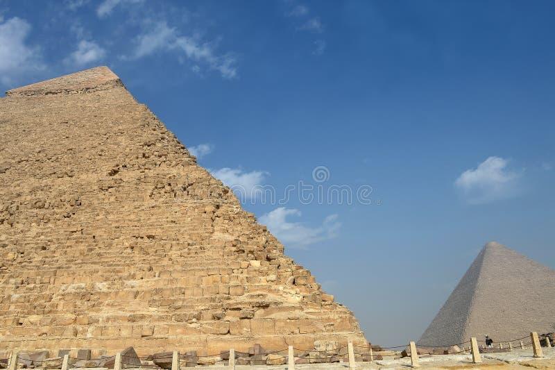 Πυραμίδες σε Giza στοκ φωτογραφία με δικαίωμα ελεύθερης χρήσης