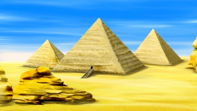 Πυραμίδες της Αιγύπτου 02 απεικόνιση αποθεμάτων