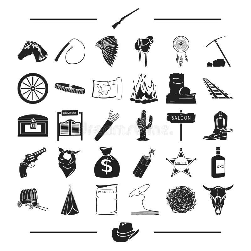 Πυρετός, τουρισμός, ψυχαγωγία και άλλο εικονίδιο Ιστού στο μαύρο ύφος , τράπεζα, Τέξας, χρυσός, εικονίδια στην καθορισμένη συλλογ διανυσματική απεικόνιση