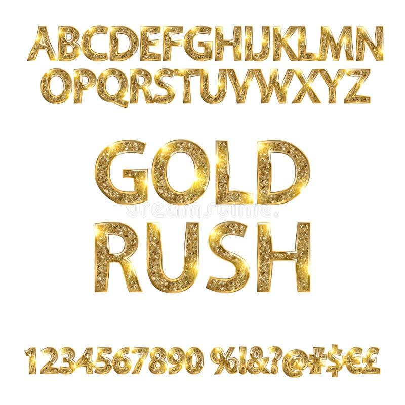 Πυρετός χρυσοθηρίας αλφάβητων ελεύθερη απεικόνιση δικαιώματος