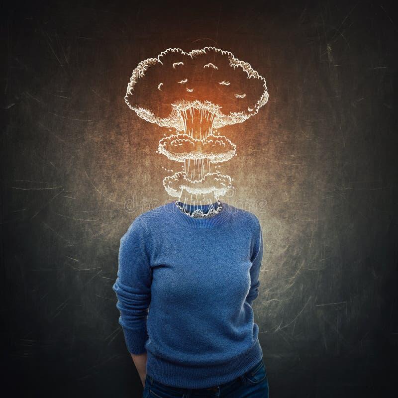 Πυρηνικός βραχίονας εγκεφάλου στοκ φωτογραφία με δικαίωμα ελεύθερης χρήσης