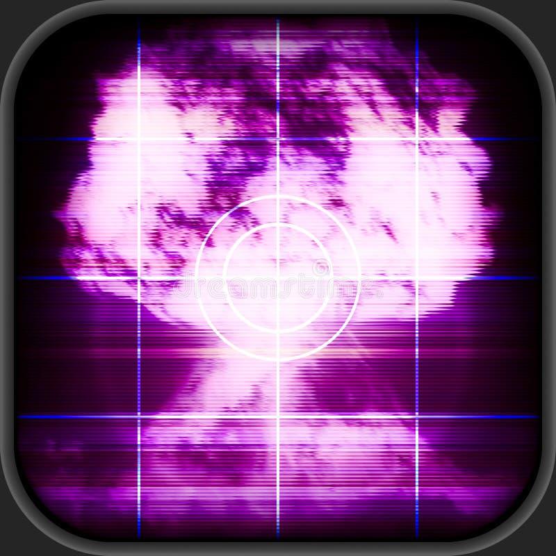Πυρηνικός συναγερμός διανυσματική απεικόνιση