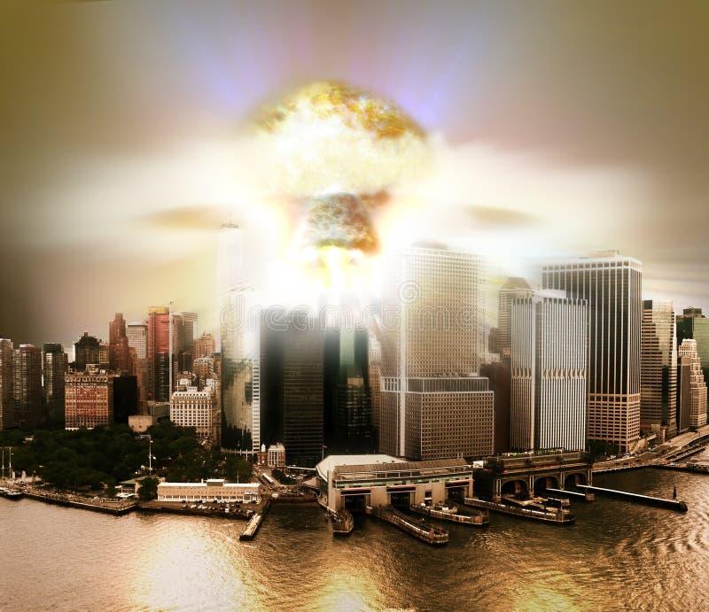Πυρηνικό τελείωμα ελεύθερη απεικόνιση δικαιώματος