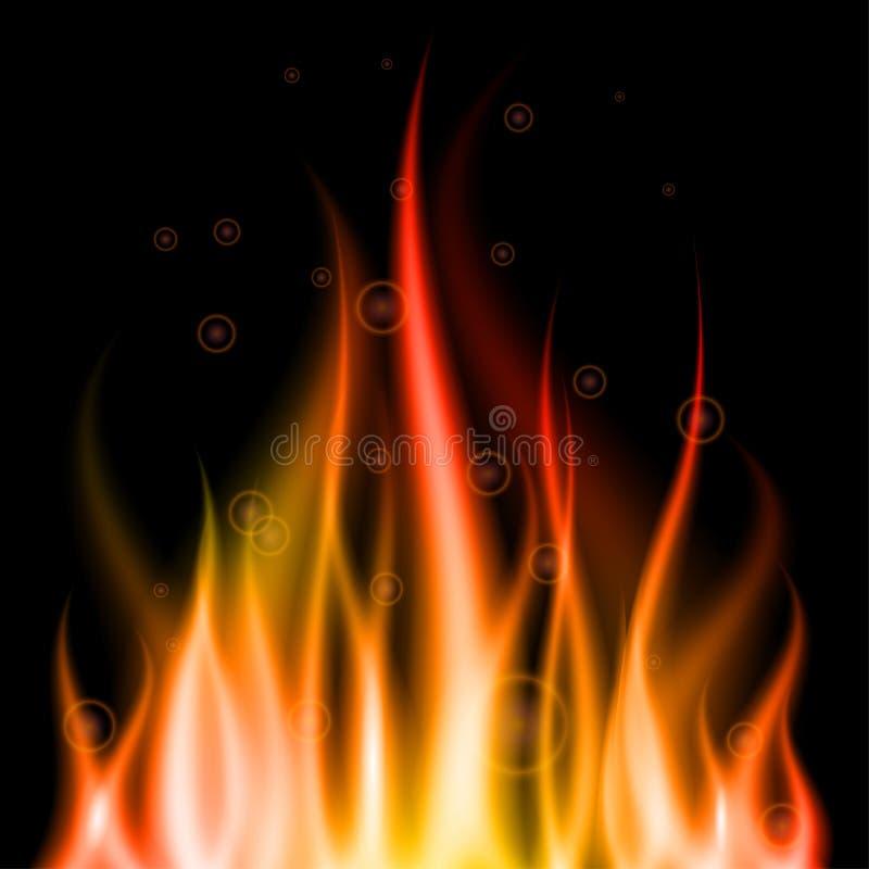 πυρκαγιά ανασκόπησης διανυσματική απεικόνιση