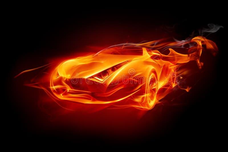 πυρκαγιά αυτοκινήτων απεικόνιση αποθεμάτων