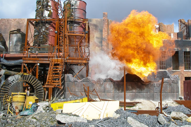 πυρκαγιά εργοστασίων πα&la στοκ εικόνες