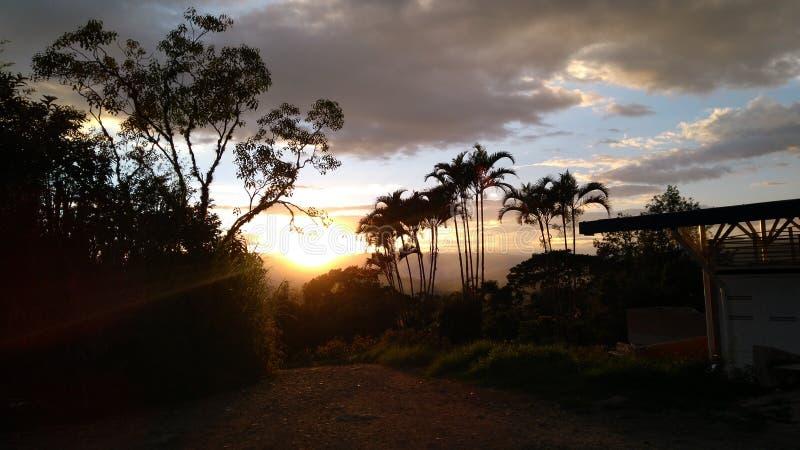 Πυρκαγιά ηφαιστείων Tolima icepeak skyes στοκ φωτογραφία με δικαίωμα ελεύθερης χρήσης
