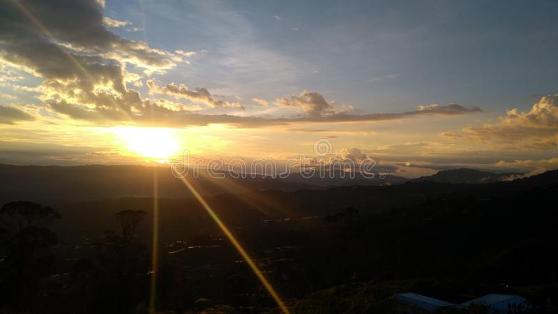 Πυρκαγιά ηφαιστείων Tolima icepeak skyes στοκ φωτογραφίες με δικαίωμα ελεύθερης χρήσης