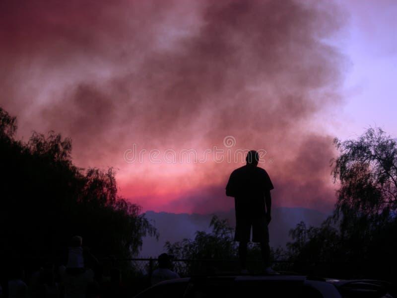 πυρκαγιά θαμνότοπων στοκ φωτογραφίες