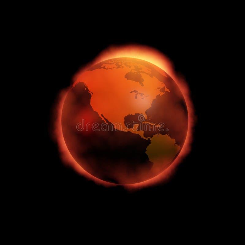 πυρκαγιά κάτω από τον κόσμο απεικόνιση αποθεμάτων