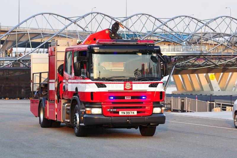 πυρκαγιά μηχανών του 2011 ndp στοκ εικόνες