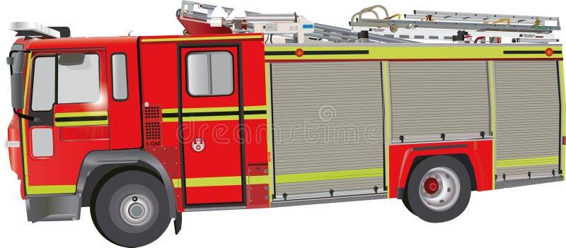πυρκαγιά μηχανών απεικόνιση αποθεμάτων