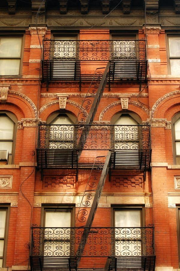 πυρκαγιά Νέα Υόρκη διαφυγώ στοκ εικόνες με δικαίωμα ελεύθερης χρήσης