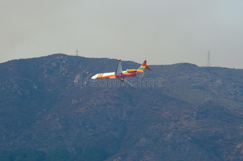 Πυρκαγιά Σαν Ντιέγκο Καλιφόρνια βράχου στοκ φωτογραφία